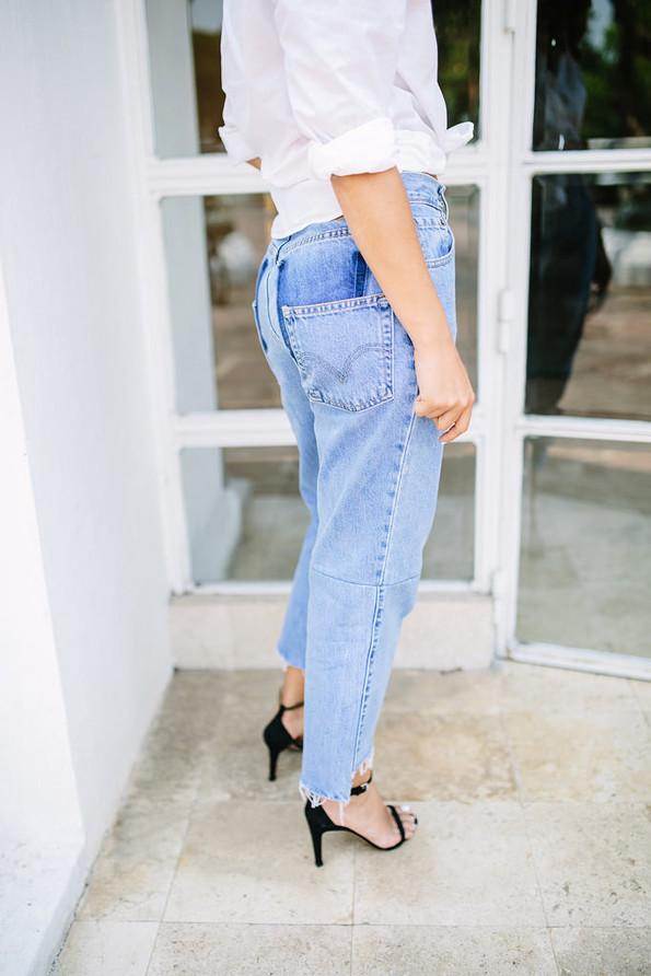 tutorial cut jeans
