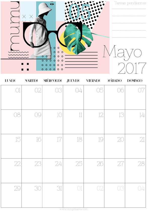 calendario Mayo mumu
